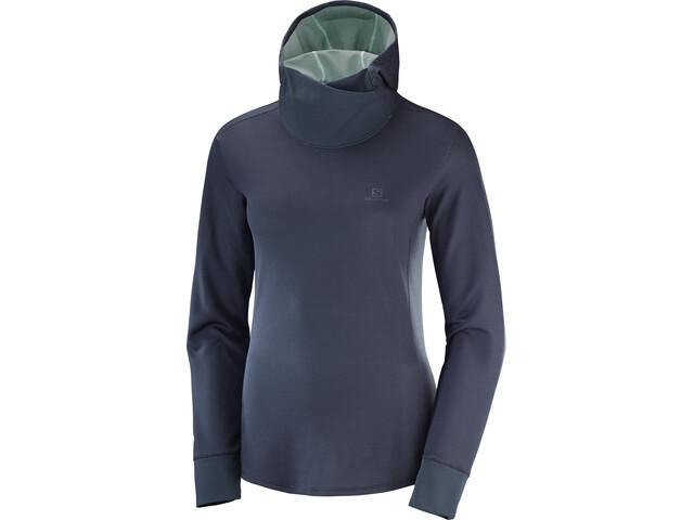 Salomon Agile Running Shirt longsleeve Women blue